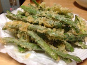 うりずん豆(シカクマメ)の天ぷら