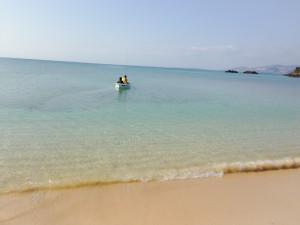 海もかなりきれい!大家さんと釣り体験