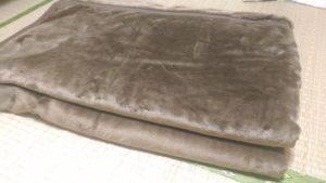 民宿の冬用寝具(毛布)