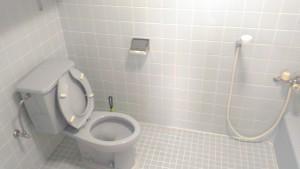 個室内にシャワートイレ完備!