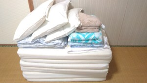 和室のお部屋の寝具
