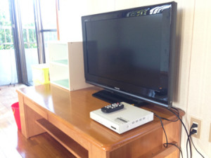 各部屋にテレビもあります!