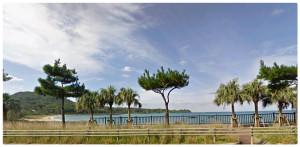 民宿の目の前のビーチが!人のいないプライベートビーチ