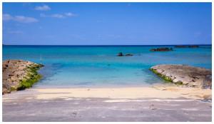 民宿周辺の海はかなりの透明度を誇ります。