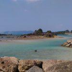 目の前のビーチ 沖縄 干潮時のビーチ