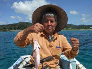 大家さんが釣り上げたオジサンという魚