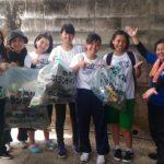 沖縄県立中部農林高校 生徒によるビーチクリーンボランティア