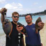 沖縄民宿★美ら海くん!2019年初釣り!