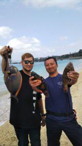 沖縄民宿★美ら海くん!初釣り