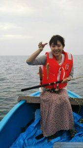 オジサン 魚ゲット