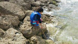 親子 釣り体験 ライフジャケット着用