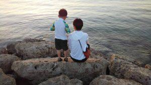北海道からのお客様 親子で夕日を 眺める その2
