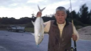 沖縄民宿美ら海くん!72cmの大モノ魚