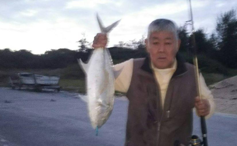 72cmの大モノ(オニヒラアジ)を釣り上げました